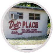 Dell's Place Round Beach Towel