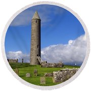 Devenish Monastic Site, Co. Fermanagh Round Beach Towel