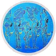 Dinka Wise Virgins  Round Beach Towel
