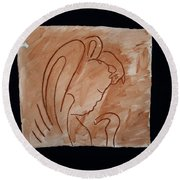 Divine Shepherd Round Beach Towel