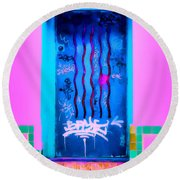 Doors Of Oaxaca Round Beach Towel