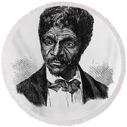 Dred Scott, African-american Hero Round Beach Towel by Photo Researchers