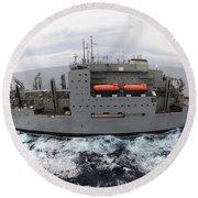 Dry Cargo And Ammunition Ship Usns Round Beach Towel