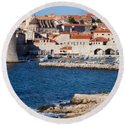Dubrovnik Old City Architecture Round Beach Towel