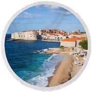 Dubrovnik Scenery Round Beach Towel