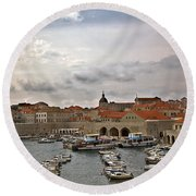 Dubrovnik View 5 Round Beach Towel