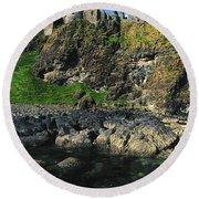 Dunluce Castle, Co Antrim, Ireland Round Beach Towel