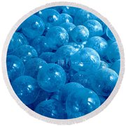 Dusty Light Bulbs Round Beach Towel