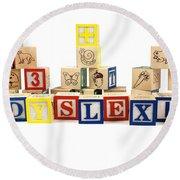 Dyslexia Round Beach Towel