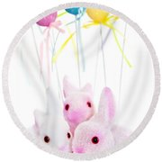 Easter Bunny Toys Round Beach Towel