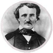 Edgar Allan Poe Round Beach Towel