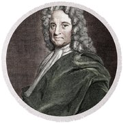 Edmond Halley, English Polymath Round Beach Towel