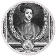 Edward Vi (1537-1553) Round Beach Towel
