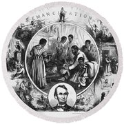 Effects Of Emancipation Proclamation Round Beach Towel