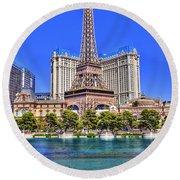 Eiffel Tower Las Vegas Round Beach Towel