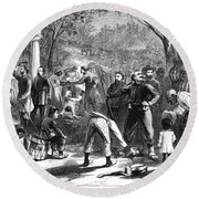 Emancipation, 1863 Round Beach Towel