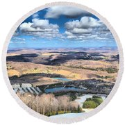 Endless Mountains Round Beach Towel