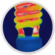 Energy Efficient Fluorescent Light Round Beach Towel