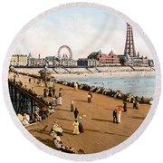 England: Blackpool, C1900 Round Beach Towel
