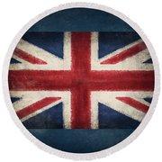 England Flag Round Beach Towel