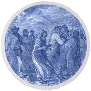 Escaping To Underground Railroad Round Beach Towel by Photo Researchers