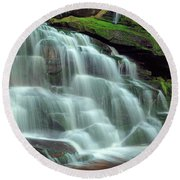 Evening At The Falls Round Beach Towel