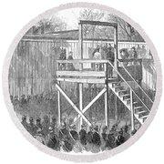 Execution Of Henry Wirz Round Beach Towel