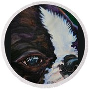 Eye On You Round Beach Towel