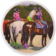 Fair On Deck Round Beach Towel