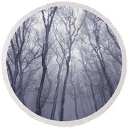 Fairy Tale Forest Round Beach Towel