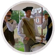 Fifes And Drums Round Beach Towel