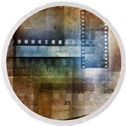 Film Negatives Round Beach Towel