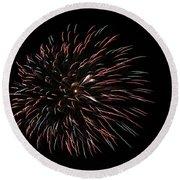 Fireworks Fun 3 Round Beach Towel