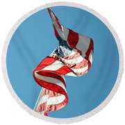 Flagged Round Beach Towel