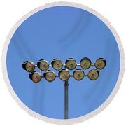 Floodlight  Round Beach Towel