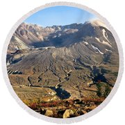 Flowers On Mount St. Helens Round Beach Towel