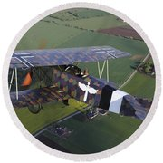Fokker D.vii World War I Replica Round Beach Towel