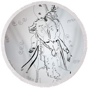 Folk Dance - Denmark Round Beach Towel