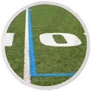 Football Field Ten Round Beach Towel