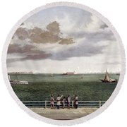 Fort Sumter, 1861 Round Beach Towel