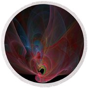 Fractal - Colorful Round Beach Towel