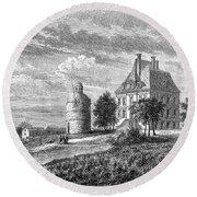 France: Wine Ch�teau, 1868 Round Beach Towel