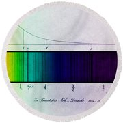 Fraunhofer Lines Round Beach Towel by Science Source