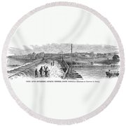 Freedmens Village, 1866 Round Beach Towel