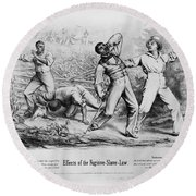 Fugitive Slave Law Round Beach Towel