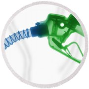 Gas Nozzle, X-ray Round Beach Towel
