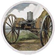 Gatling Gun, 1872 Round Beach Towel