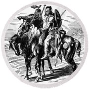 Gaulish Warriors Round Beach Towel