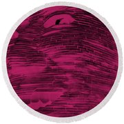 Gentle Giant In Hot Pink Round Beach Towel