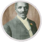 George W. Carver, African-american Round Beach Towel by Science Source
